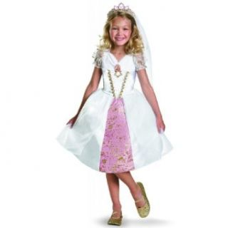 Tangled Rapunzel Wedding Gown Costume Size: 4 6X: Clothing