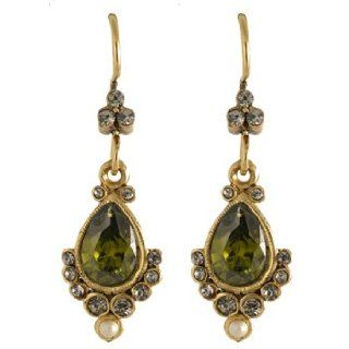 Lee Angel Gold Green Crystal Earring: Roxanne Assoulin for Lee Angel: Jewelry