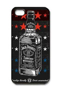New Custom Designer Jack Daniels Whiskey Bottle Star Design Plastic Hard Back Case Cover for Iphone 5 Black Color with Retail Packaging,compatible with Iphone 5: Cell Phones & Accessories