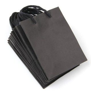 10 x Black Rectangle Kraft Paper Carrier Gift Present Packing Shopping Bag HOT   Reusable Grocery Bags