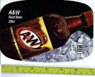 Medium Size Chameleon (Dr. Pepper Machine Size ) A&W Root Beer BOTTLE Soda Vending Machine Flavor Strip, Label Card, Not a Sticker