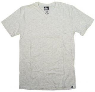 Quiksilver Blank V Neck T Shirt   Natural Heather   M: Clothing