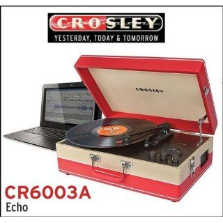 Crosley CR6003A CR Echo USB Enabled 3 Speed Turntable with Software Suite for Ripping and Editing Audio (Red & Cream): Electronics