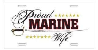 Proud Marine Wife   Military Supporter License Plate: Automotive
