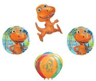 DINOSAUR Buddy DINO Train T Rex Proud 9 BIRTHDAY Party Mylar Latex BALLOONS Set: Health & Personal Care