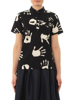 Hand print cotton shirt  Ymc