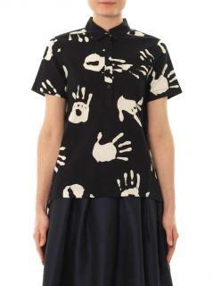 Hand print cotton shirt  Ymc