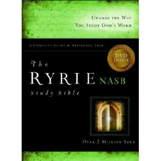 The Ryrie NAS Study Bible Genuine Leather Burgundy Red Letter: Charles C. Ryrie: 9780802489104: Books