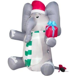 6ft Airblown Inflatable Christmas Elephant w/ Present : Outdoor Decor : Patio, Lawn & Garden