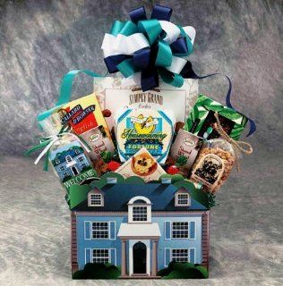 Welcome Home Gift Box  House Warming Present  Medium : Gourmet Snacks And Hors Doeuvres Gifts : Grocery & Gourmet Food