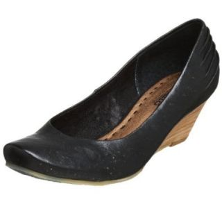 Seychelles Women's Silver Spoon Leather Wedge, Black, 8 M: Pumps Shoes: Shoes