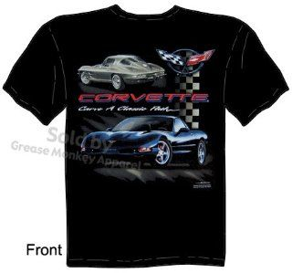 SIZE Large C5 Corvette T Shirts Chevy Vette Apparel Carve A Classic Path Tee: Clothing