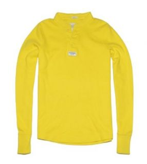 Abercrombie & Fitch Men Muscle Fit Long Sleeve Henley T shirt (XXL, Bright yellow) at  Men�s Clothing store Abercrombie And Fitch