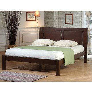 Ikcco Queen size Bed, This chic queen size bed by Ikcco adds a clean look to your bedroom. The slat design provides comfort, eliminating the need for a box spring, while the solid rubberwood and wenge finish adds an eye catching visual detail to the decor