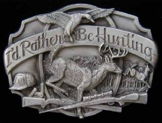 Rather Be Hunting Belt Buckle Clothing