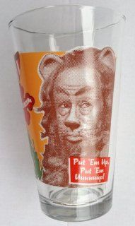 """Wizard of Oz """"PUT EM UP, PUT EM UUUUUUUP"""" Cowardly LION Collector Series Pint Glass (Measures 5 3/4"""" Tall)  Beer Glasses"""