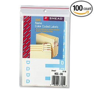 Smead Alpha Z Color Coded First Letter Name Labels, D & Q, Light Blue, 100/Pack: Industrial & Scientific