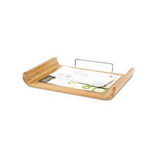 ** Desk Tray, Single Tier, Bamboo, Letter, Natural **   Office Desk Trays
