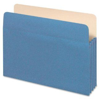 Globe Weis Colored File Pocket, 5.25 Inch Expansion, Letter Size, Blue (1534G BLU 10) : Expanding File Jackets And Pockets : Office Products