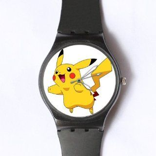 Custom Pikachu Watches Classic Photo Black Watch WXW 1728: Watches
