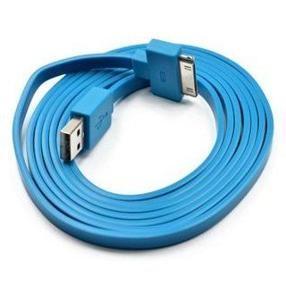KLOUD � Blue Widest (TM) Flat 6FT feet USB Data / Sync Cable for Apple iPhone 4 4S 3GS iPod Touch New iPad: Computers & Accessories