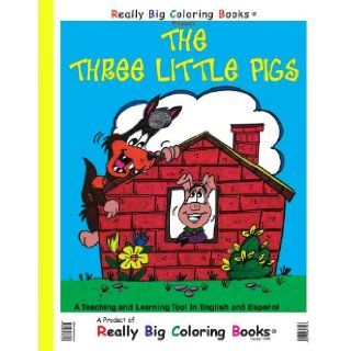 The Three Little Pigs Giant Super Jumbo Coloring Book (English and Spanish Edition) Really Big Coloring Books 9780972783323 Books