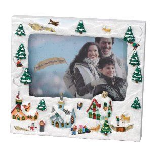 Gold Label Really Snowing Photo Frame    Whimsical Christmas Scene   Single Frames