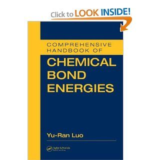 Comprehensive Handbook of Chemical Bond Energies: 0000849373662: Medicine & Health Science Books @