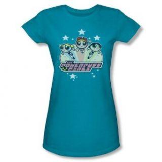 Powerpuff Girls Junior's T Shirt Starry design Clothing