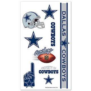 Dallas Cowboys Nfl Temporary Tattoos Wincraft : Sports Related Merchandise : Sports & Outdoors