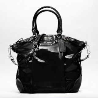 COACH Madison Patent Leather Lindsey Satchel in Gloss Black 18627: Shoes