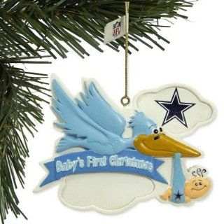 DALLAS COWBOYS BABY BOY FIRST CHRISTMAS ORNAMENT : Sports Related Collectibles : Sports & Outdoors