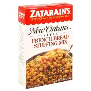 Zatarain's New Orleans Style French Bread Stuffing Mix, 6.6 Ounce Boxes (Pack of 12) : Packaged Stuffing Side Dishes : Grocery & Gourmet Food