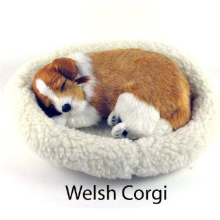 Welsh Corgi Puppy   Pet Mate / Nap Breathing Life Like Sleeping Dog in Bed: Toys & Games