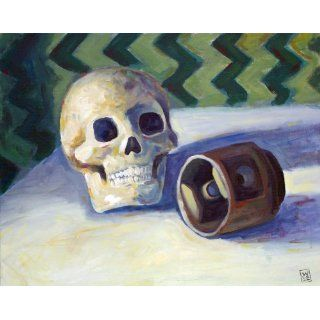 Art: Skull and Piston head : Painting : Will Eskridge