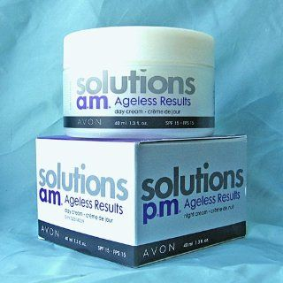 Avon Solutions a.m./p.m. Ageless Results Day Cream SPF 15/Night Cream  Facial Moisturizers  Beauty