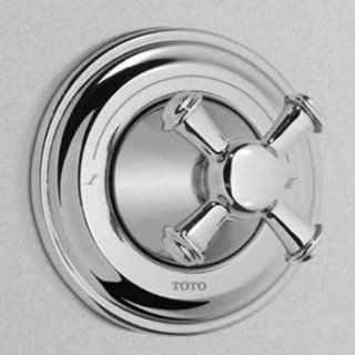 Toto TS220D2#BN Vivian Single Handle Diverter Trim Only with Cross Handle less Shut Off, Brushed Nickel   Toilet And Urinal Parts