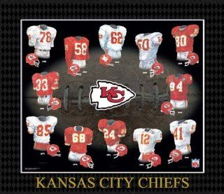 NFL Kansas City Chiefs Evolution of The Team Uniform Framed Photograph  Sports Related Collectible Photomints  Sports & Outdoors