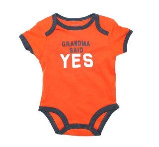 "Carter's Bodysuit, Baby Boy ""Grandma Said Yes"" Bodysuit, 3 Months : Infant And Toddler Bodysuits : Baby"