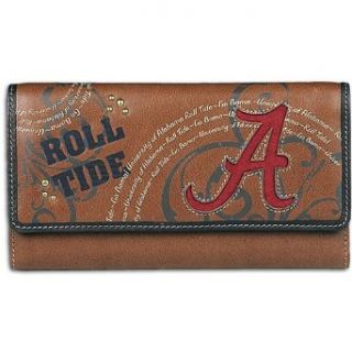 Alabama Fossil College Lettermn Flap Clutch Wallet   Women ( sz. One Size Fits All, Alabama )  Sports Related Merchandise  Clothing