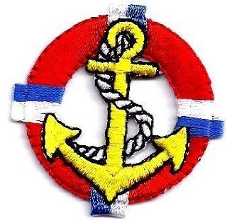BUY 1 GET 1 OF SAME FREE/Anchor in Life Preserver  Iron On Embroidered Applique: Everything Else