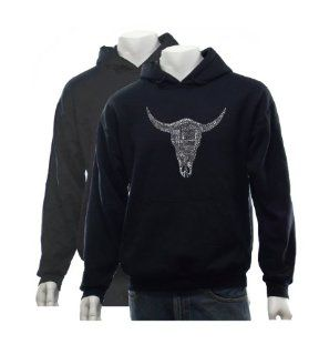 Men's Black Cow Skull Hoodie XXL   Created using some of the greatest all time country songs: Other Products: Clothing