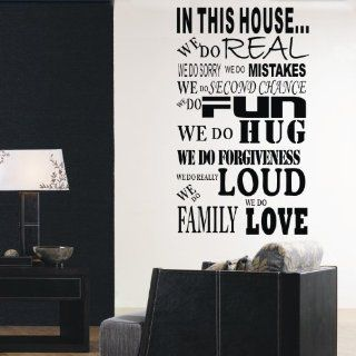 "23""* 38"" in This House We DoWall Decals Sticker Saying Quotes"