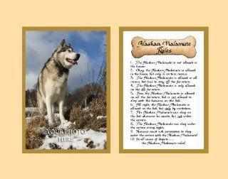 Dog Rules Alaskan Malamute Wall Decor Pet Saying Dog Saying   Decorative Plaques