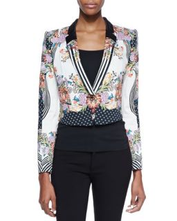Womens Romantic Nature Print Jacket   Just Cavalli   Black (46)