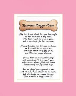 Heaven's Doggie Door Female Dog Memorial Wall Decor Poem Pet Saying Bereavement Sign   Decorative Plaques