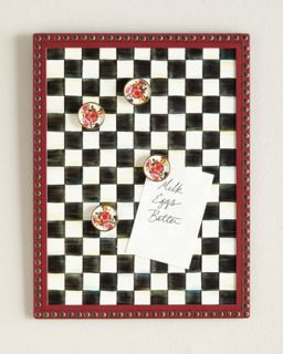 Courtly Check Message Board   MacKenzie Childs   Black/White