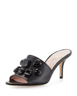 sadie crystal slide sandal, black   kate spade new york   Black (36.0B/6.0B)