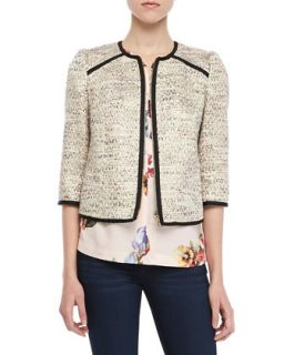 Womens Yomoi Tweed Zip Jacket   Ted Baker London   Sand (4 (10))