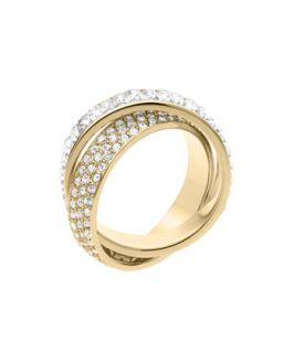 Pave/Baguette Eternity Ring, Golden   Michael Kors   Gold (8)